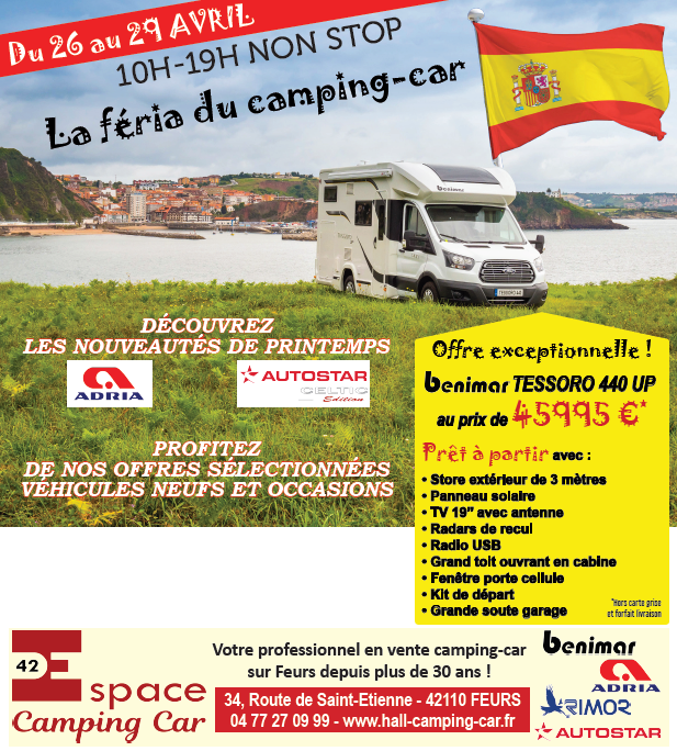 Portes ouvertes du 29 au 26 avril espace camping car - Porte ouverte camping car ...
