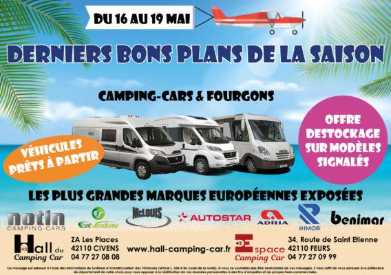 Derniers bons plans de la saison au Hall du Camping-car 42 du 16 au 19 mai